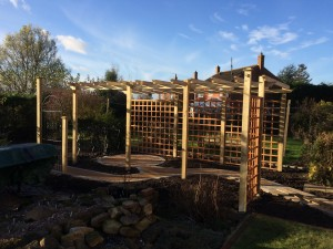 Bespoke made pergola