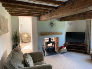 double aspect fireplace